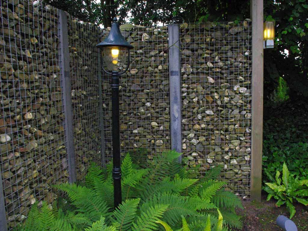 Декоративный забор из габионов