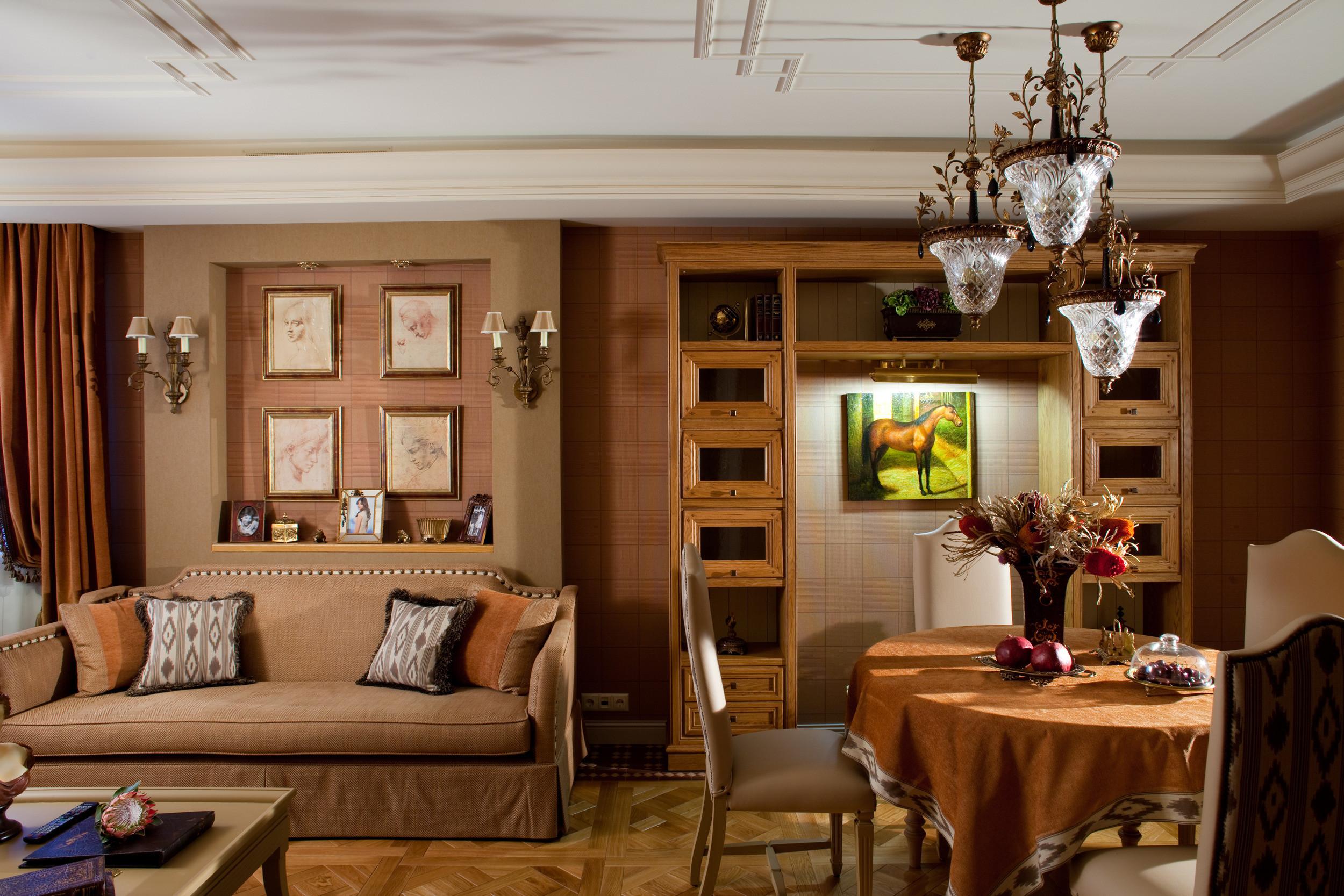Декоративная ниша в гостиной