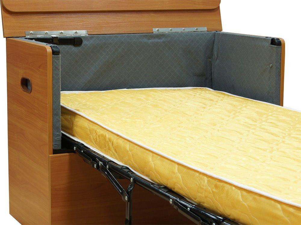 Деревянная кровать-тумба