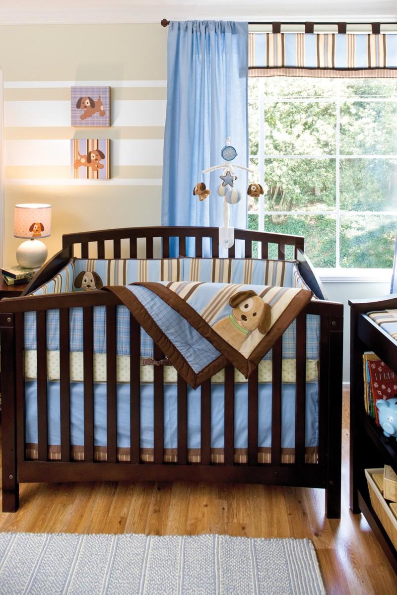Голубые шторы для ребенка