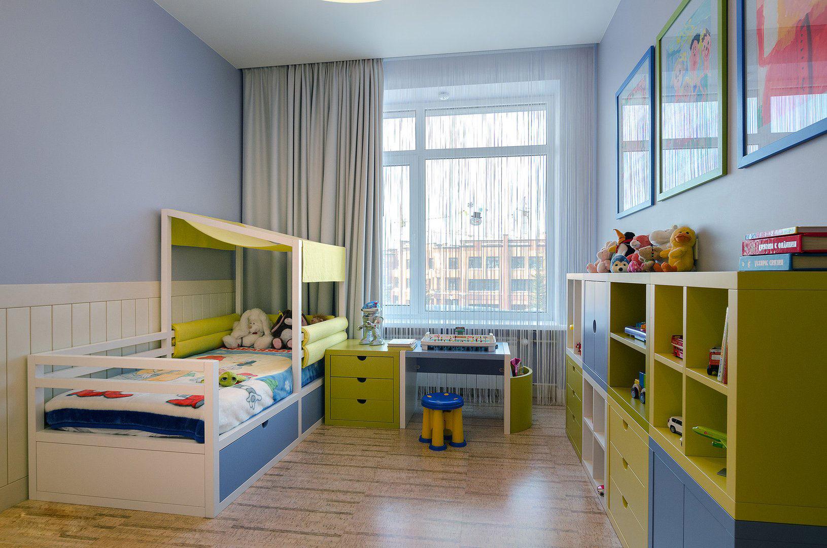 Комбинированные шторы в детской