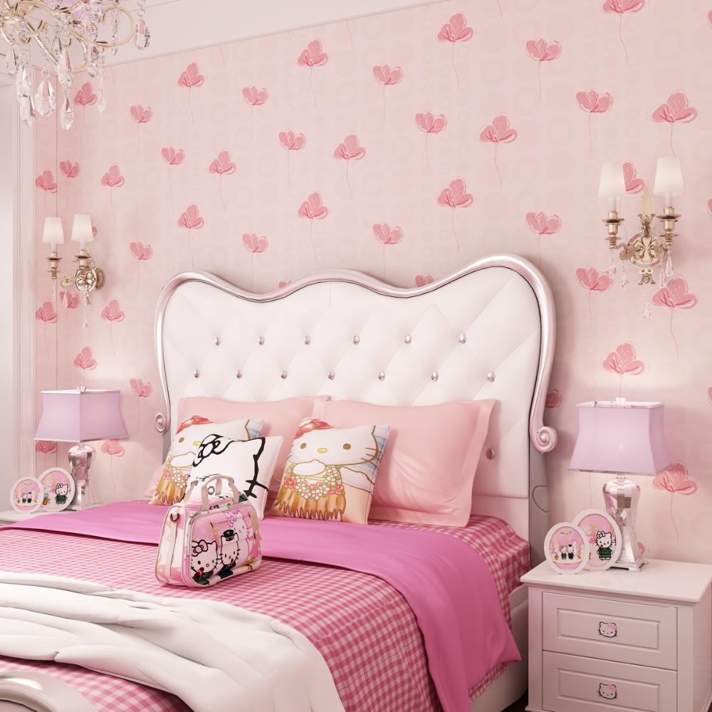 Розовые обои для девочки
