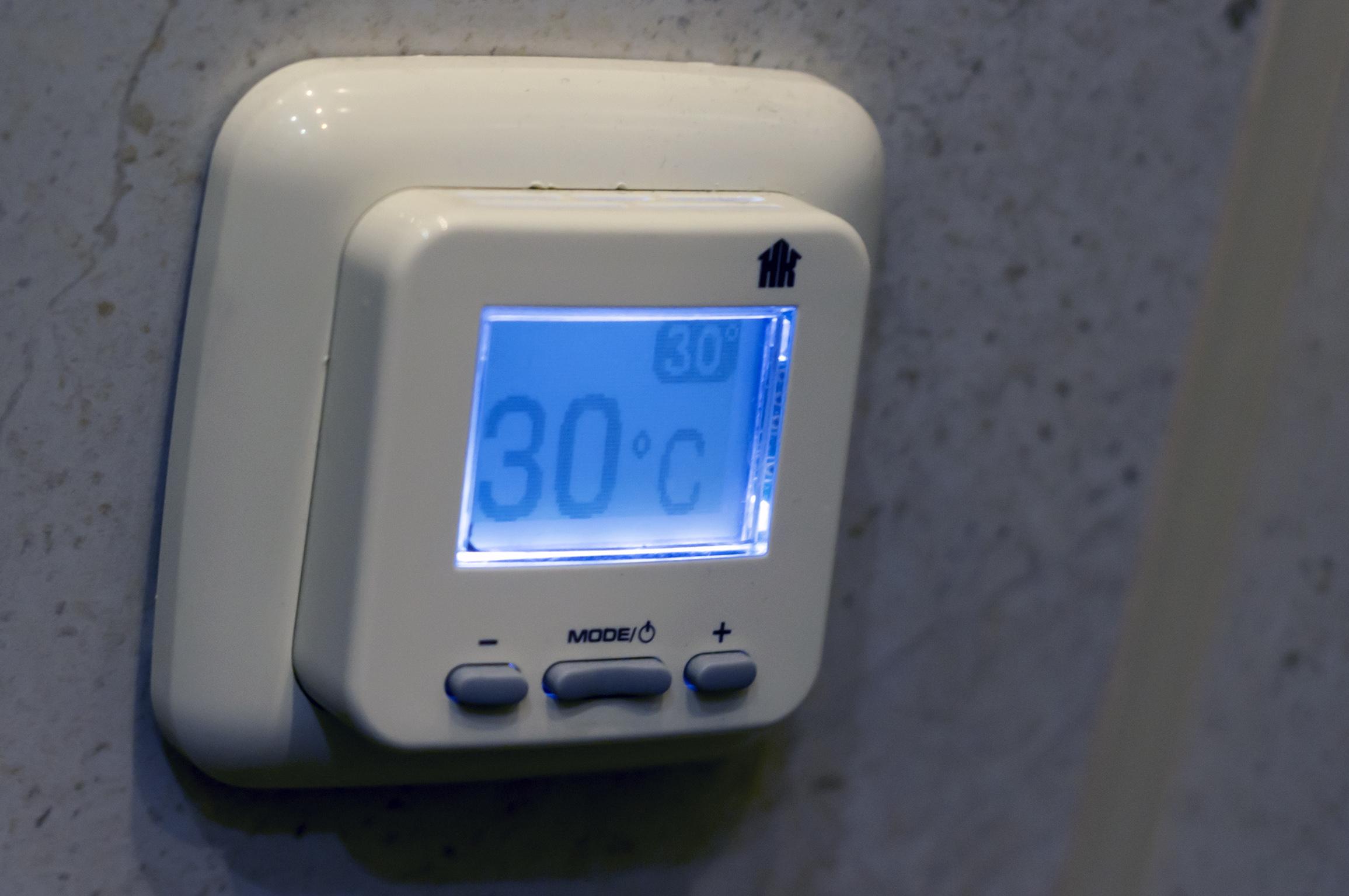 Терморегулятор с дисплеем для теплого пола