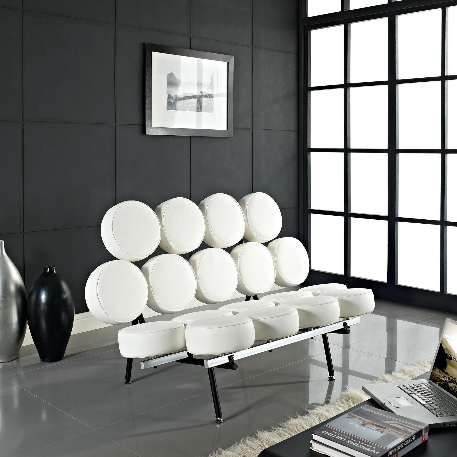 Дизайнерский диван из экокожи
