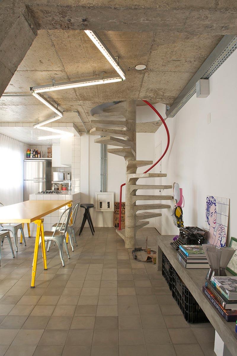 Дизайн бетонного потолка