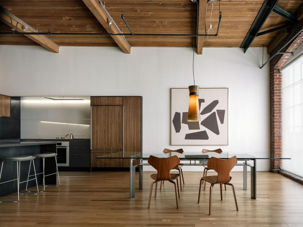 Потолок в доме в стиле лофт