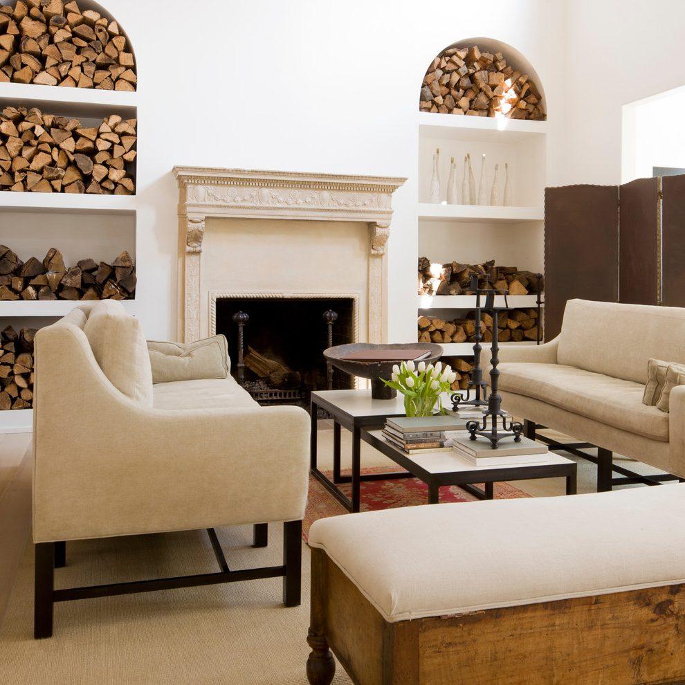 Ниша для дров в гостиной