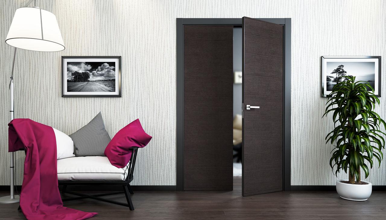 Коричневая двойная дверь