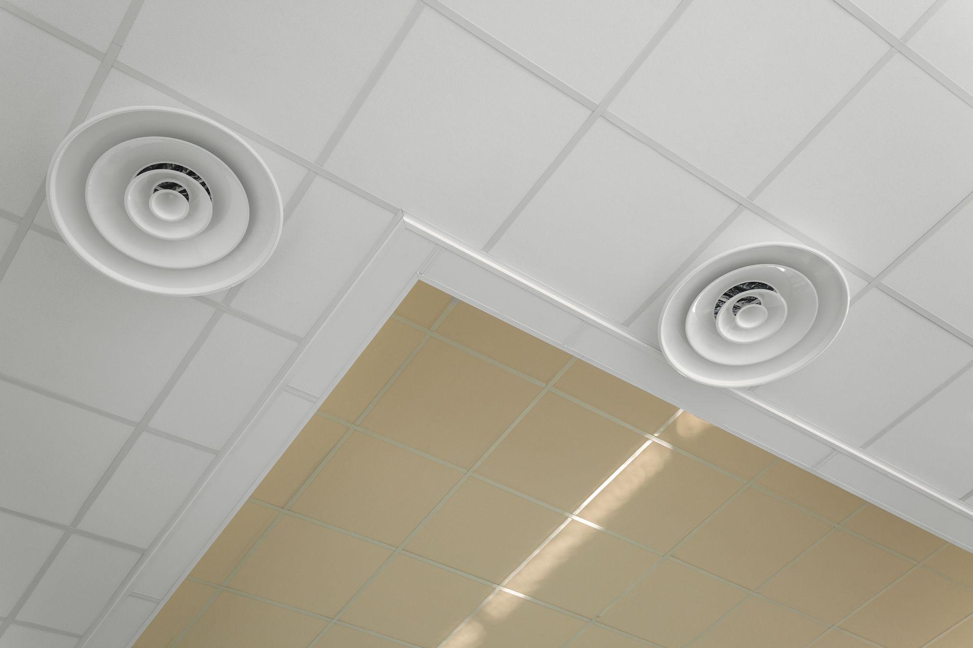 Двухуровневый акустический потолок
