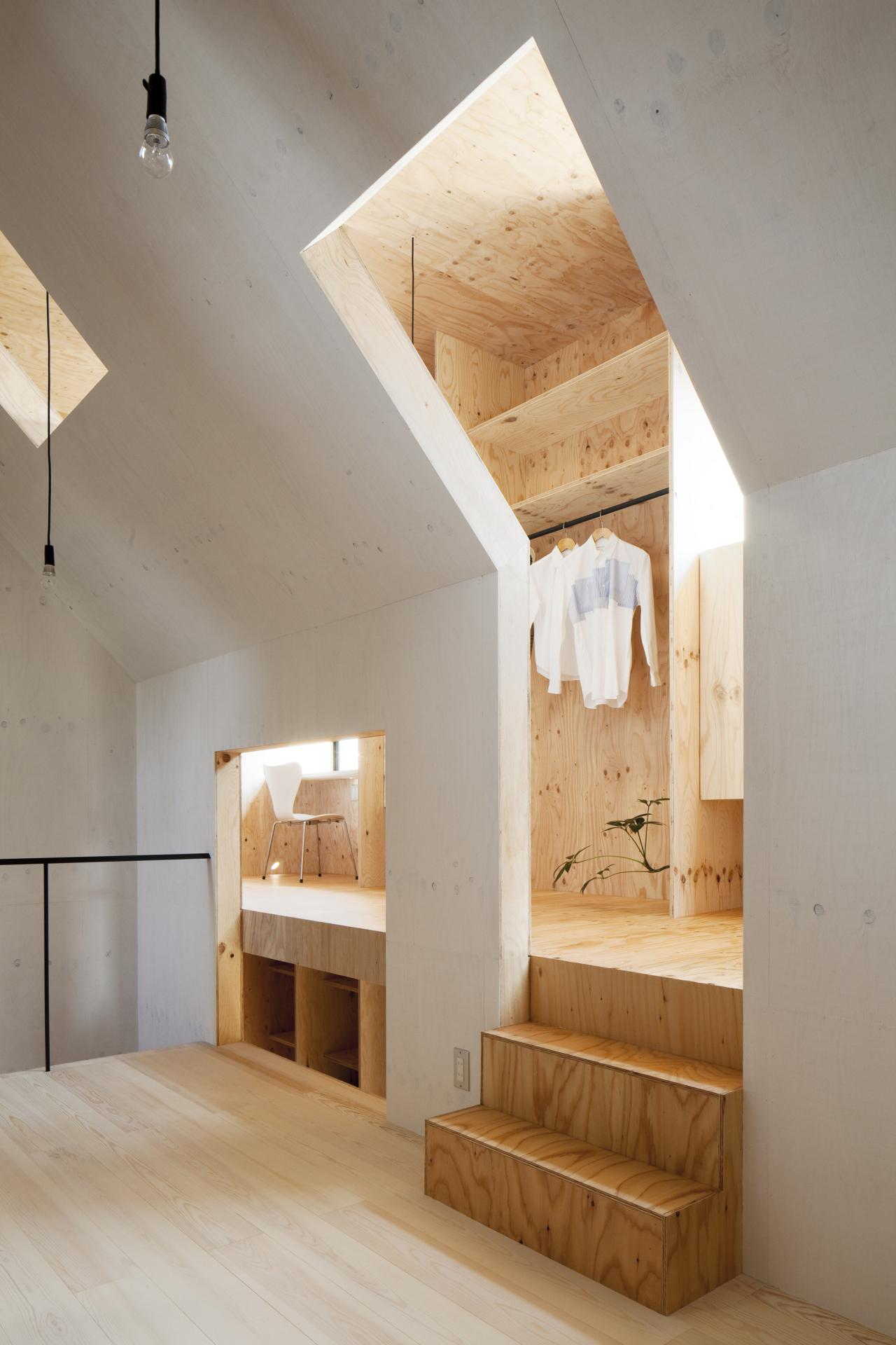 Потолок из фанеры в стиле эко