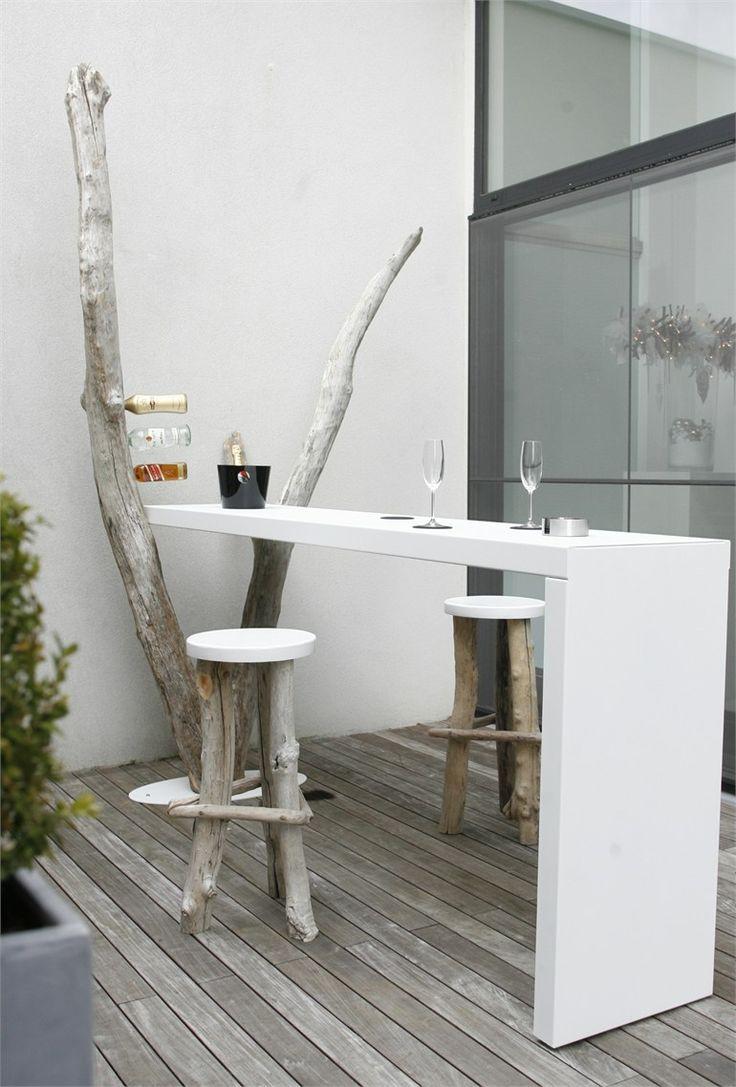 Барный стол в стиле эко