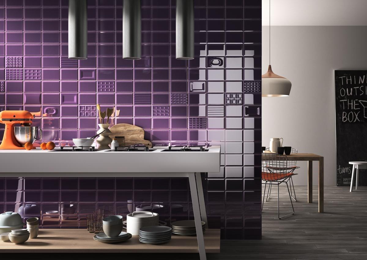 Фиолетовая плитка кабанчик