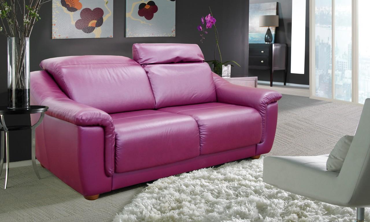Фиолетовый диван-реклайнер