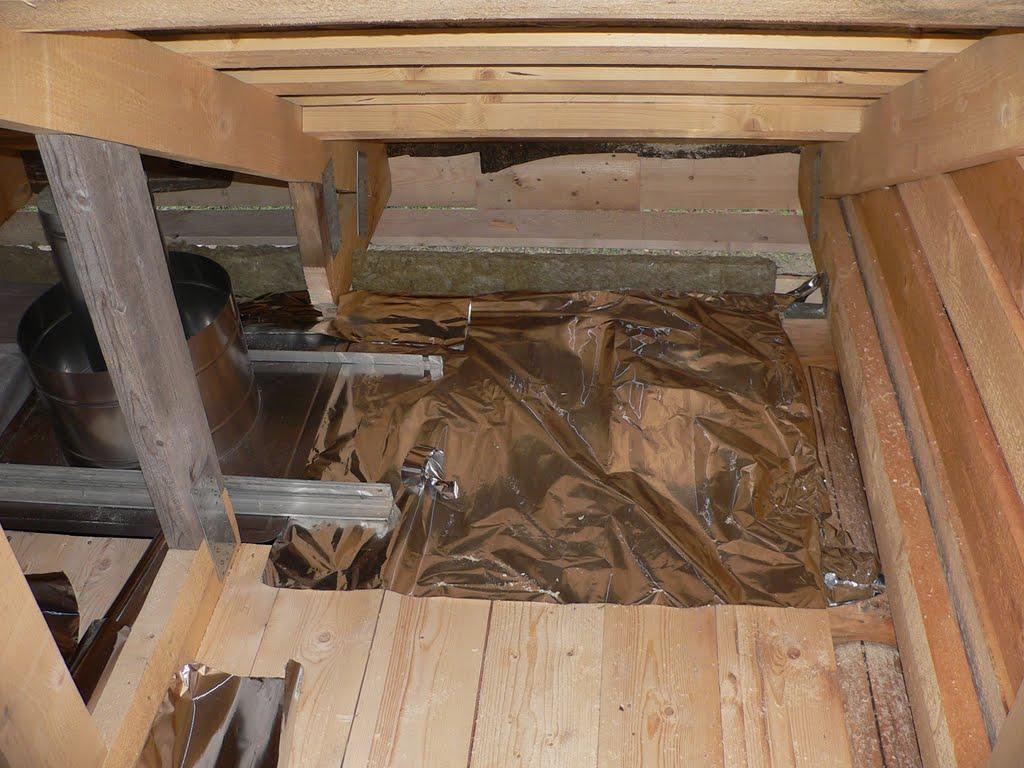 Утепление потолка в бане фольгой