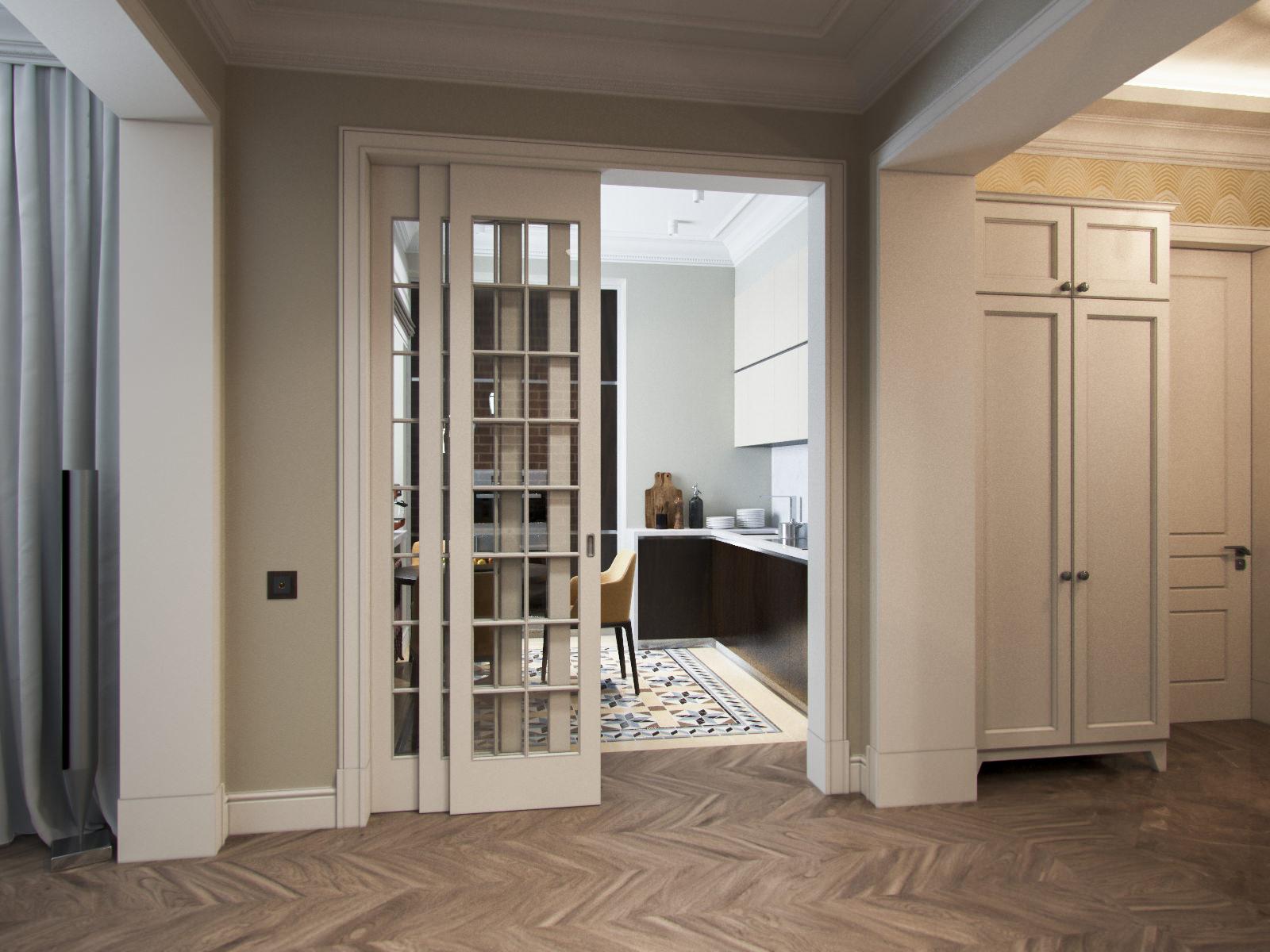 Кухонная дверь во французском стиле
