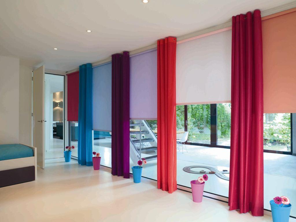 Кассетные шторы на французские окна