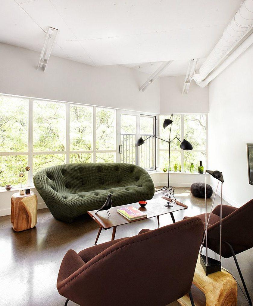 Малогабаритный диван в футуристичном стиле