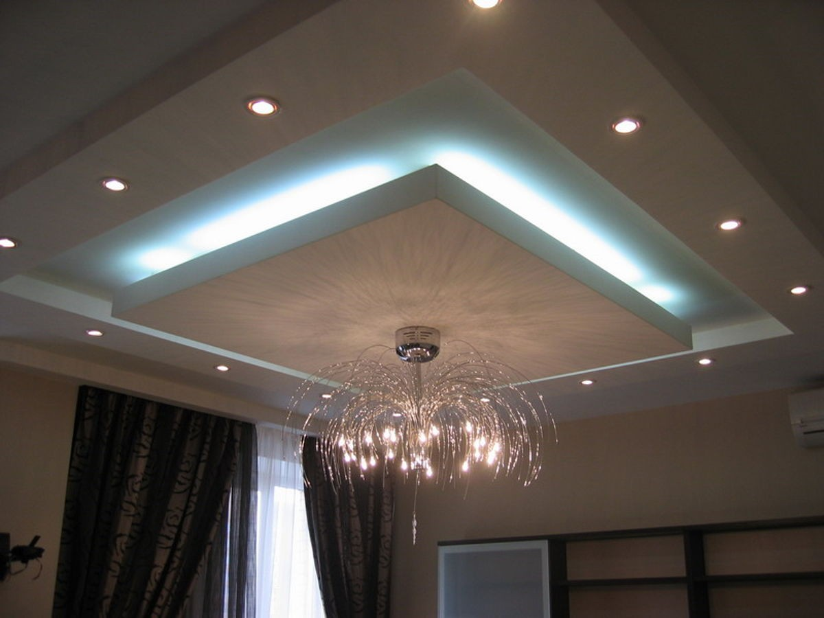 Гипсокартонный фигурный потолок