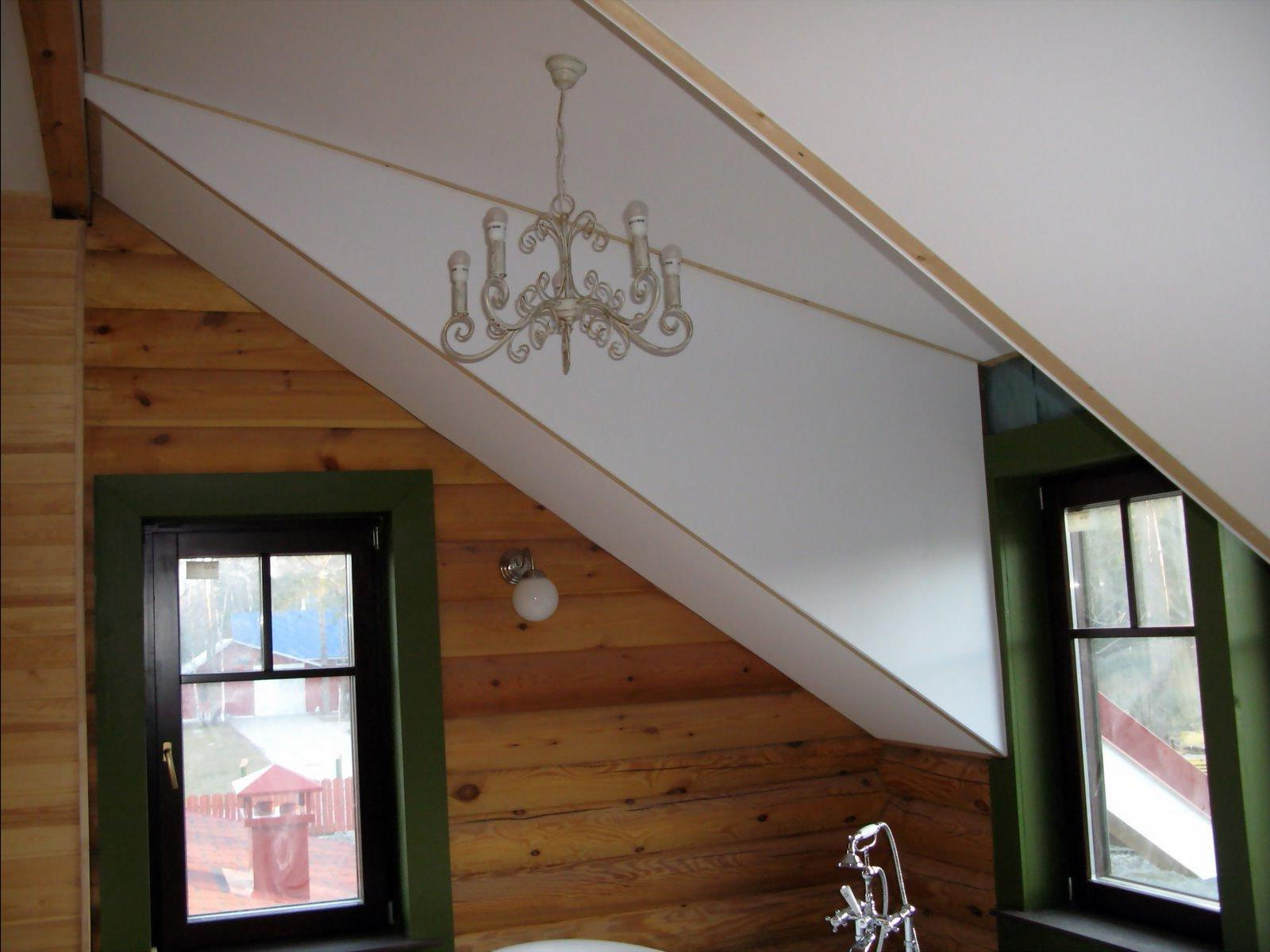Монтаж гипсокартона на потолке на даче