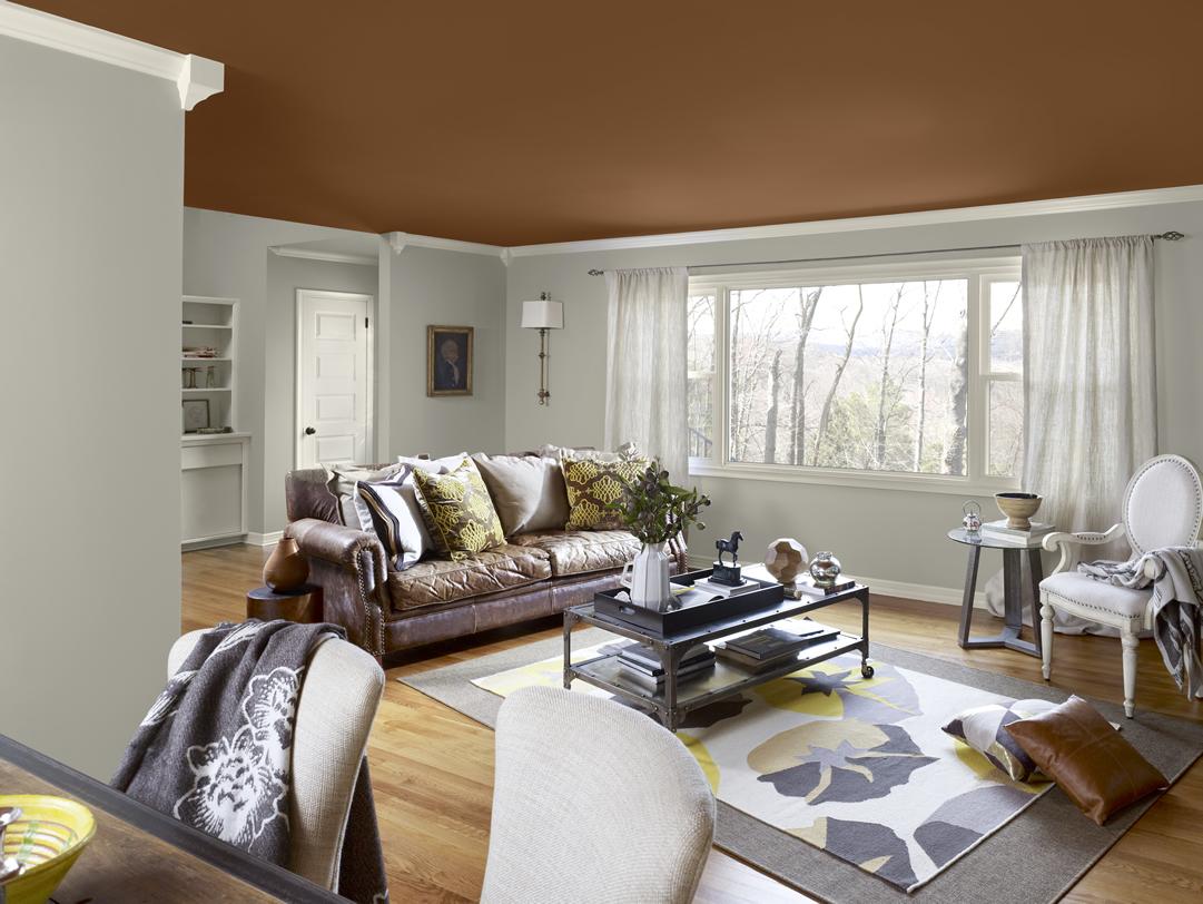 Коричневый потолок – стильная идея для вашего дома (25 фото)