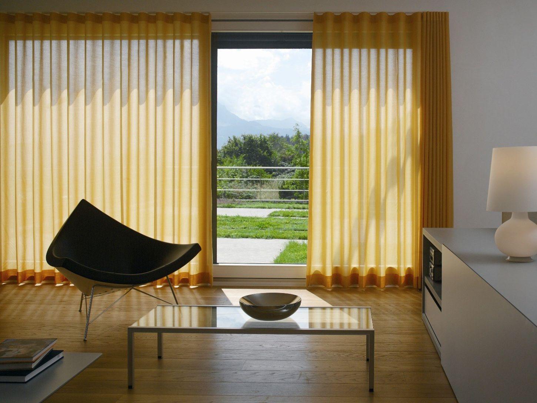 Желтые шторы из хлопка