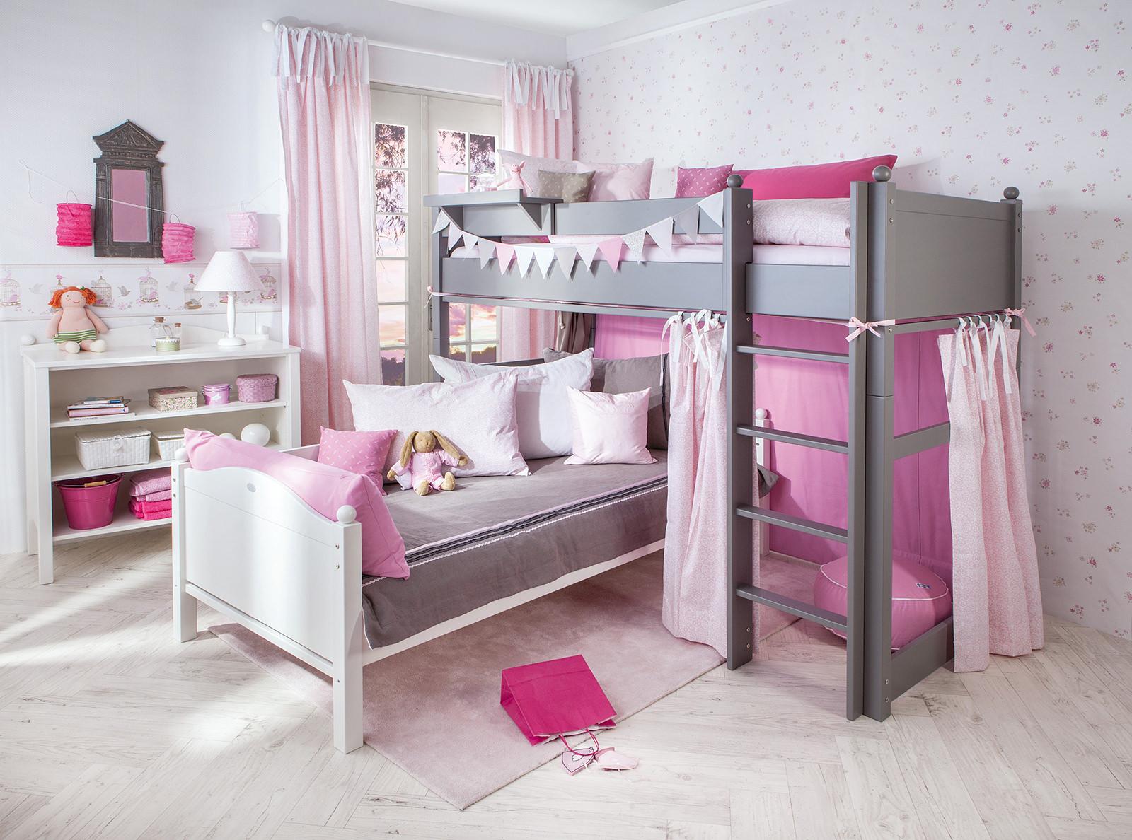 Розовые шторы из хлопка
