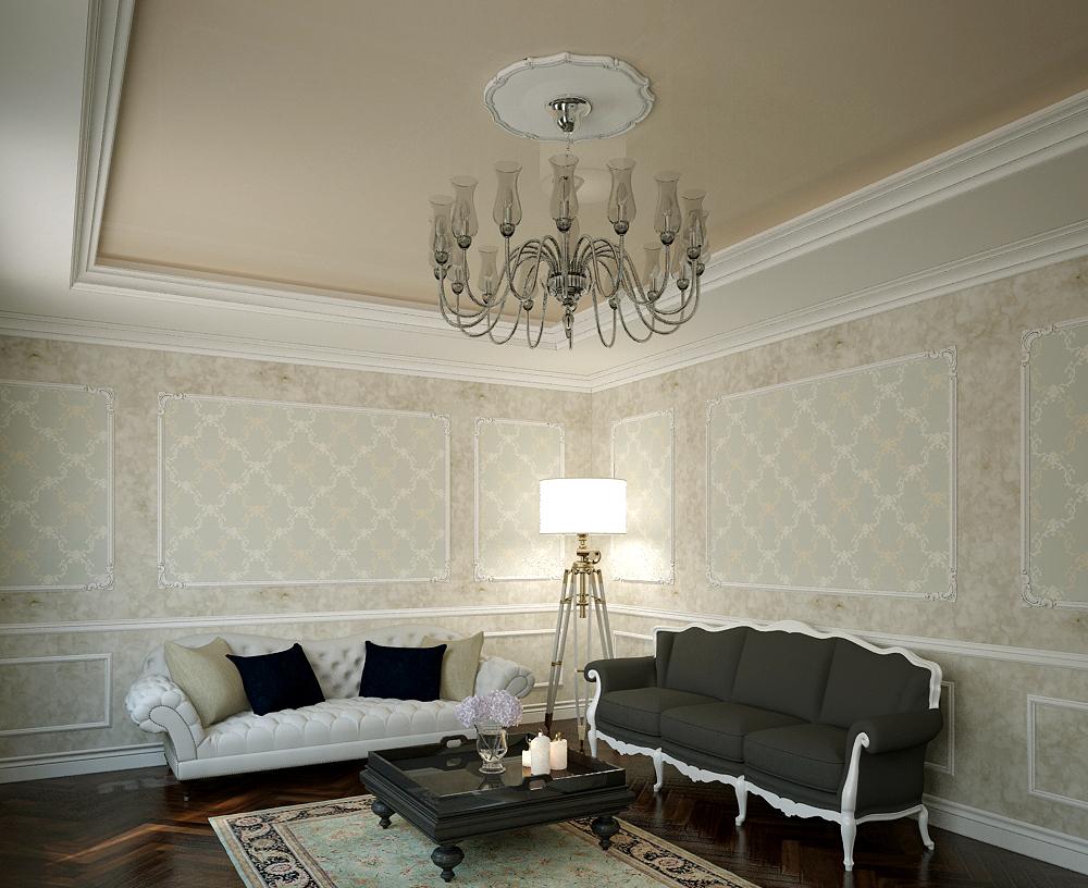 Акустический потолок в интерьере