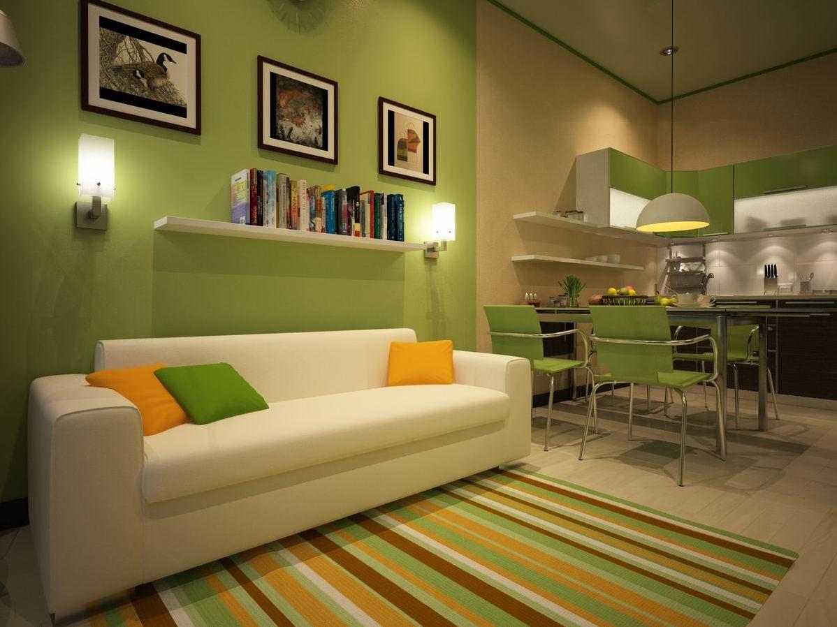 Узкий диван в интерьере