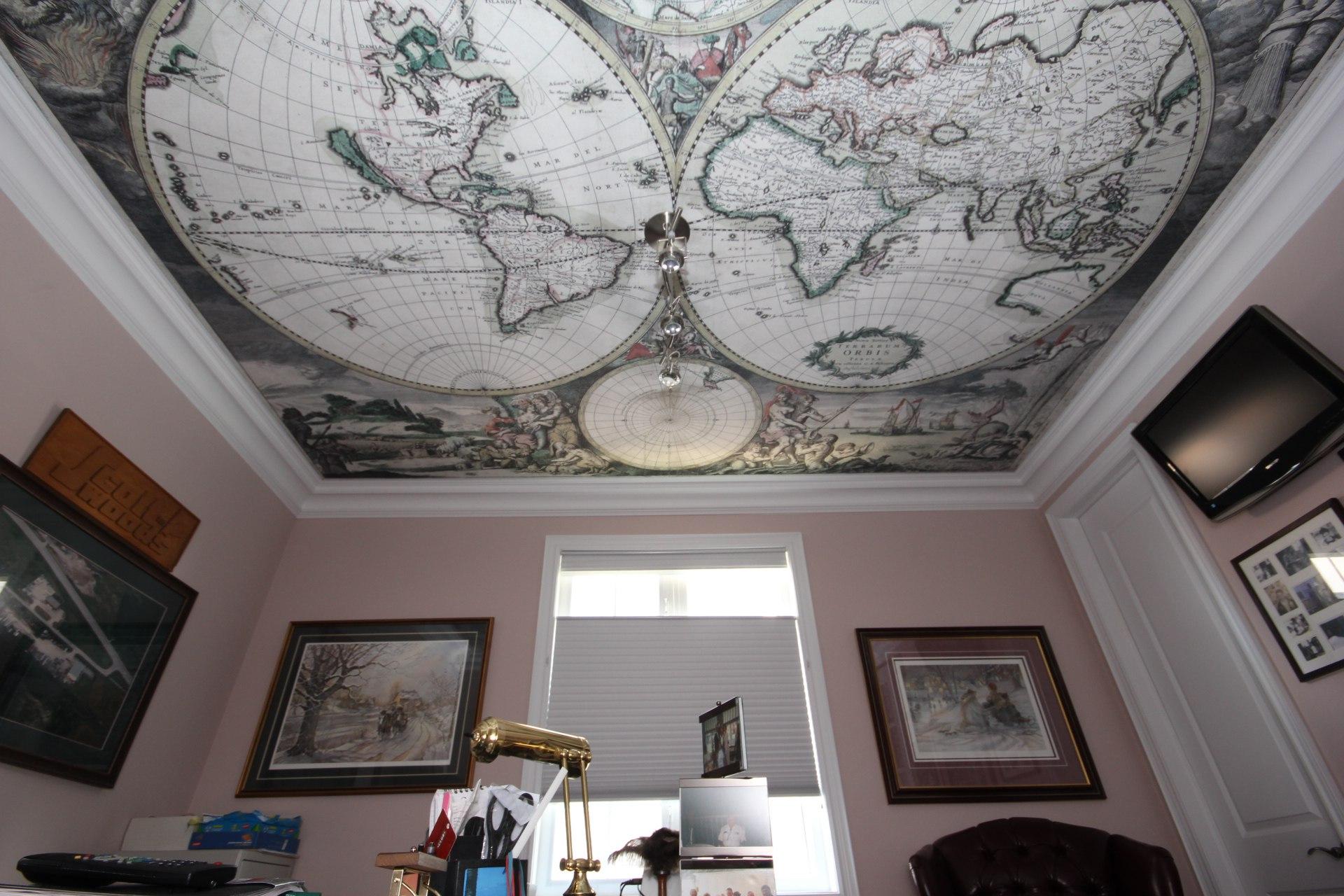 Натяжные потолки с фотопечатью: доступно, красиво, современно (24 фото)