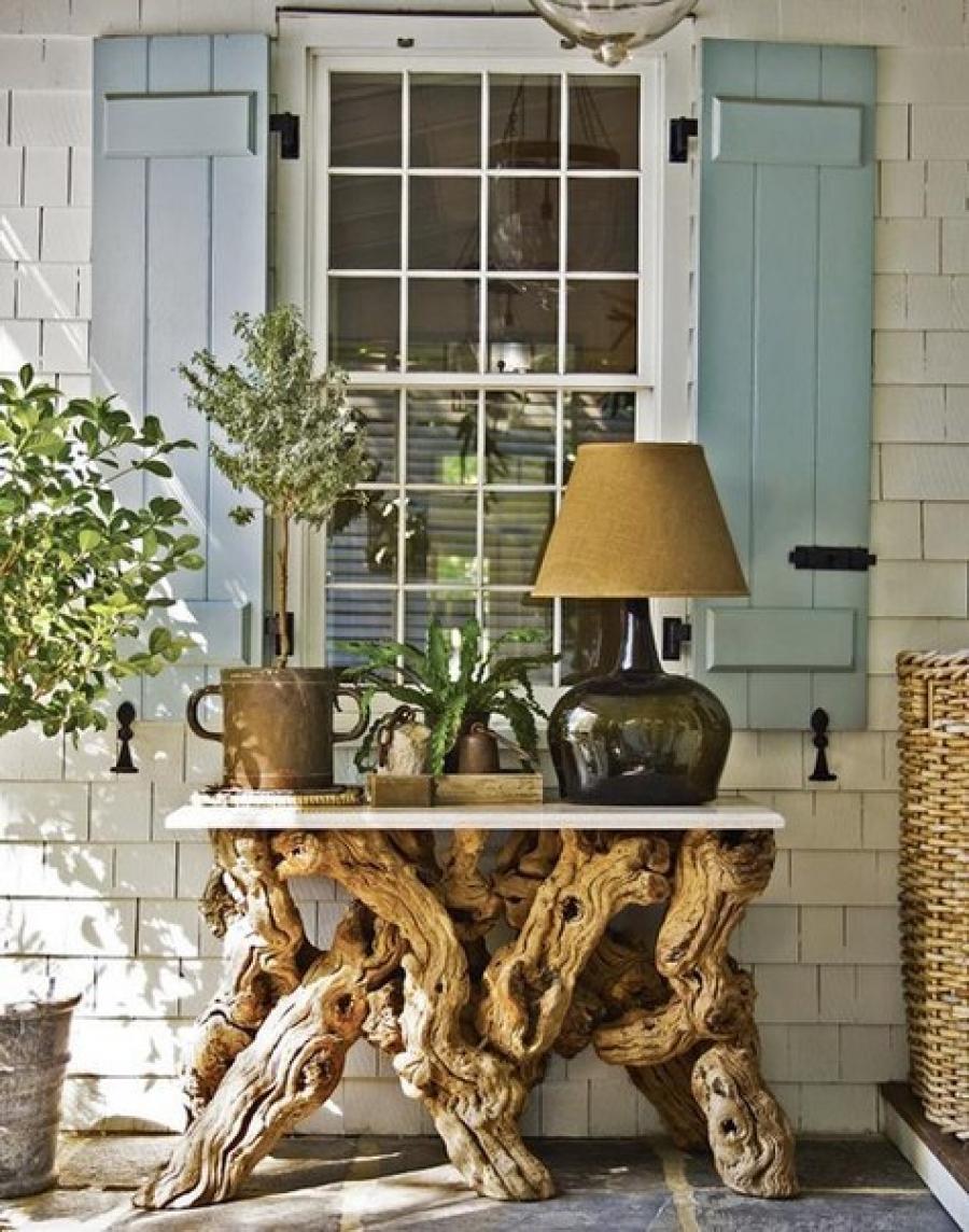 Мебель из коряг в стиле кантри