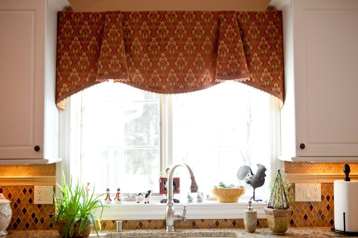 Современные шторы в стиле кантри