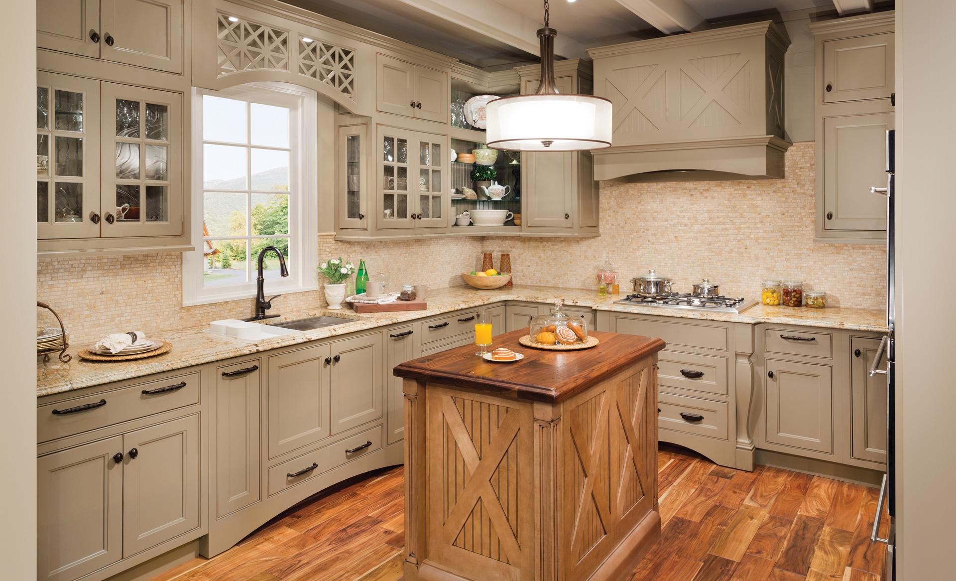 Шкафы для кухни в стиле кантри