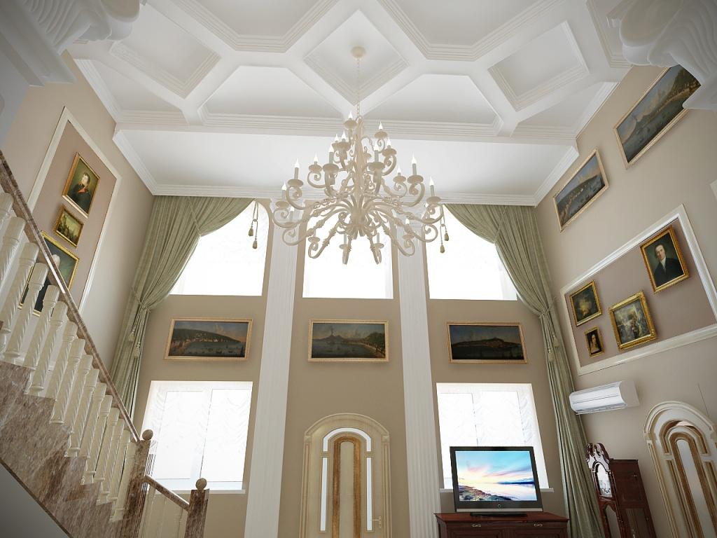 Классический кессонный потолок