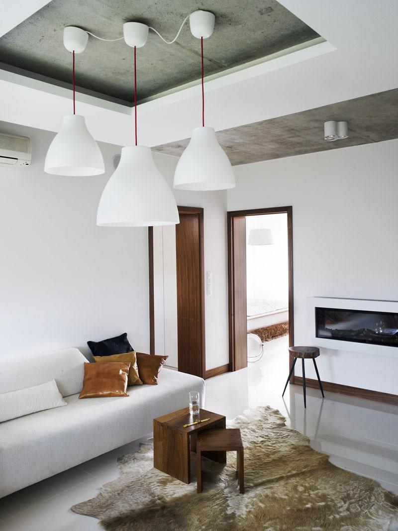 Бетонный комбинированный потолок