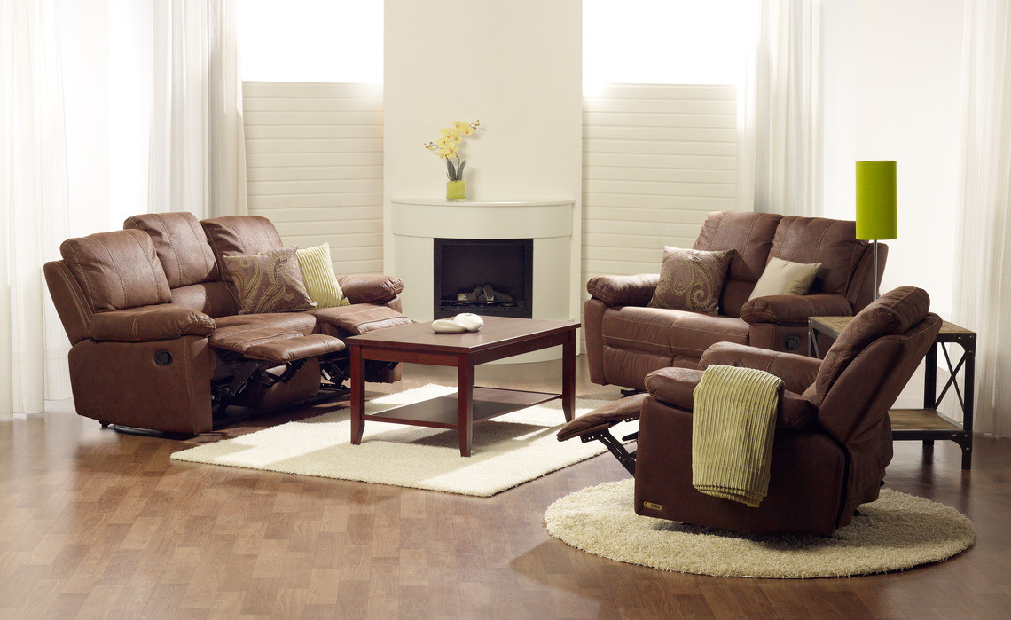 Коричневый диван-реклайнер