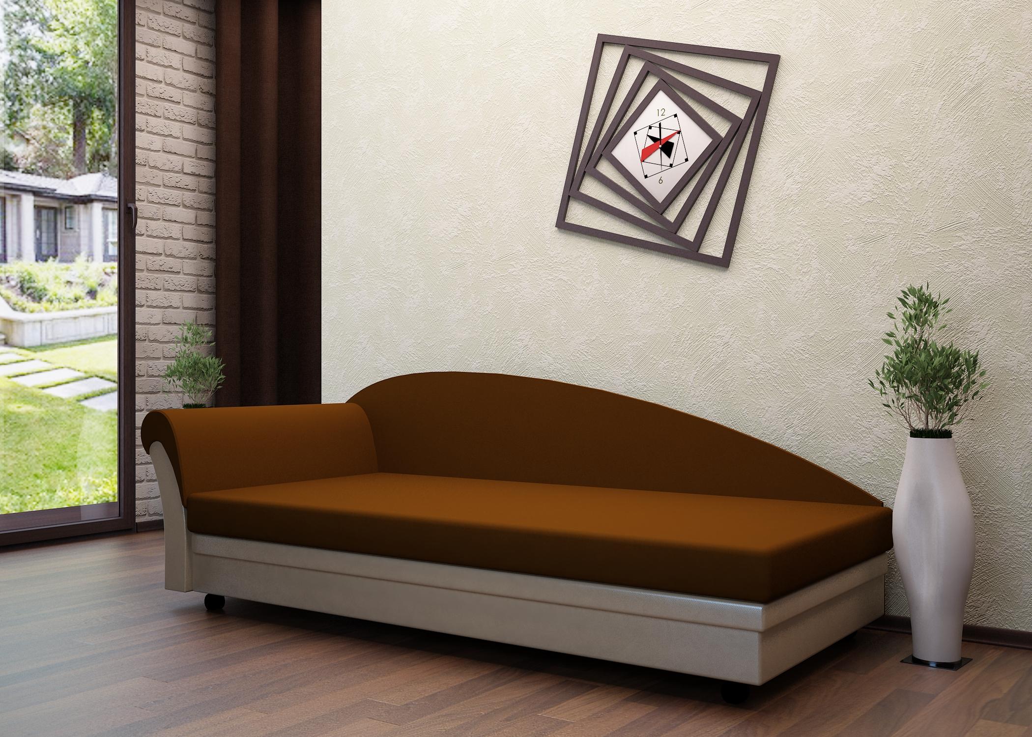 Коричневый диван-тахта