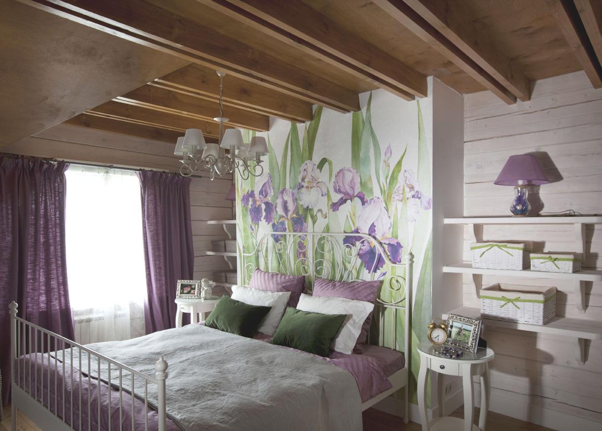 Кованая кровать для дачи