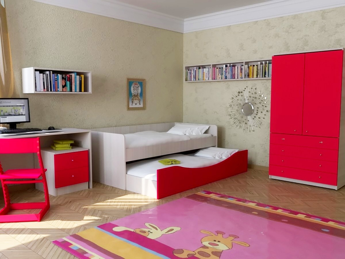 Красная кровать тахта