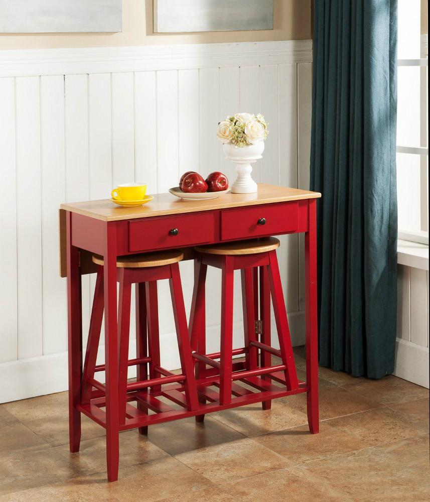 Красный барный стол