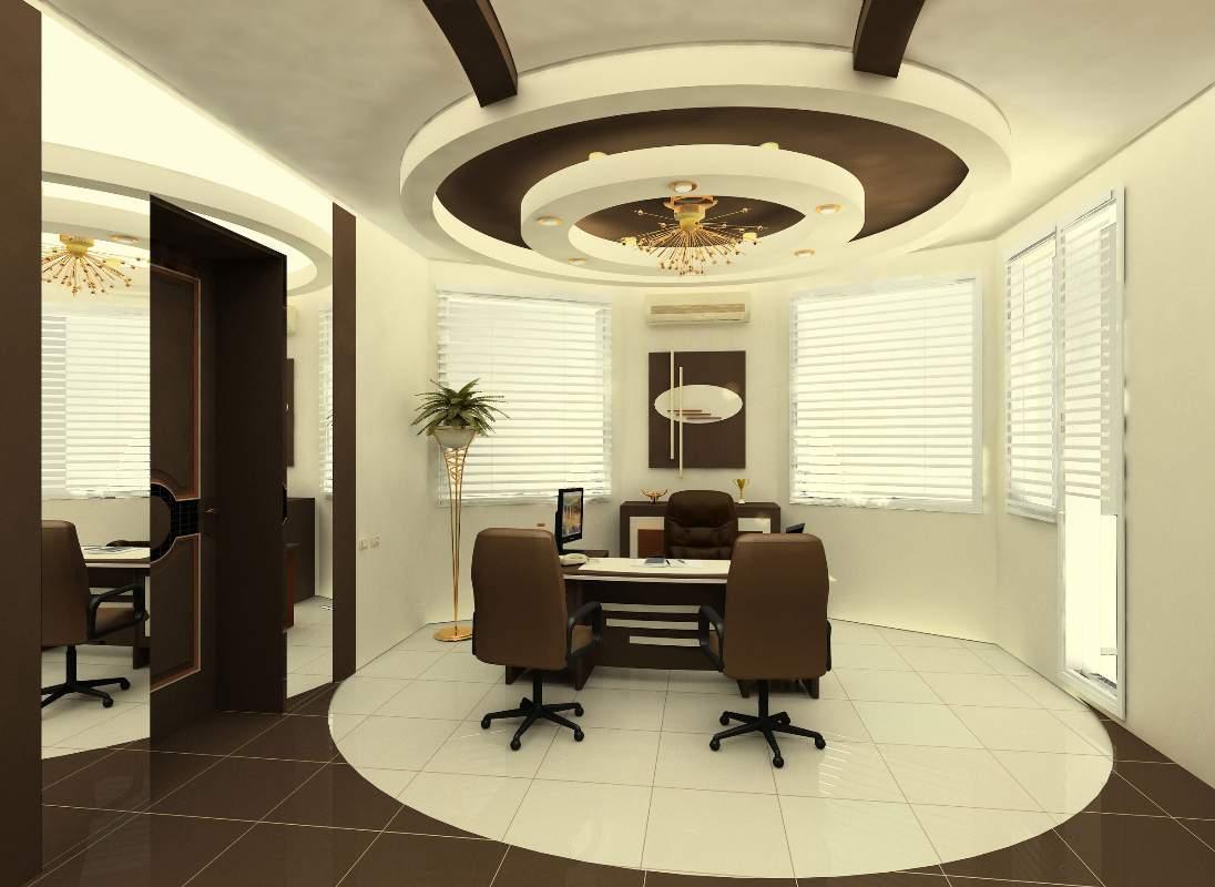 Коричневый круглый потолок
