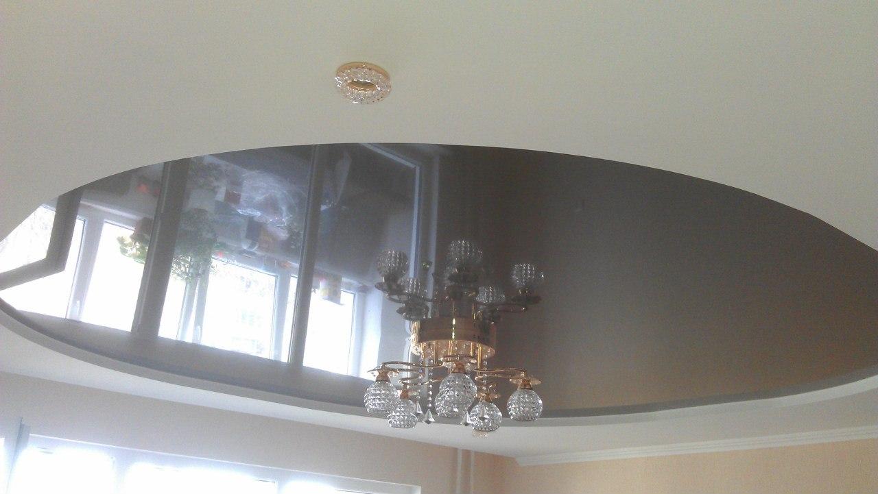 Серый круглый потолок