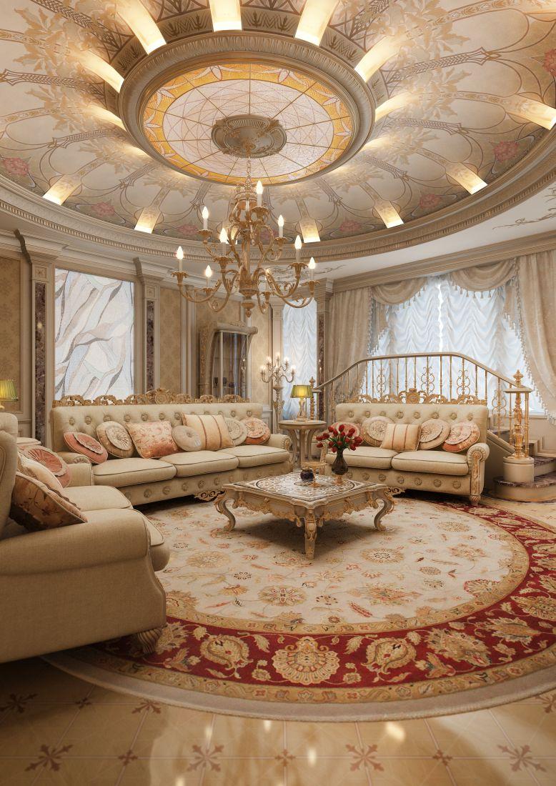 Классический круглый потолок