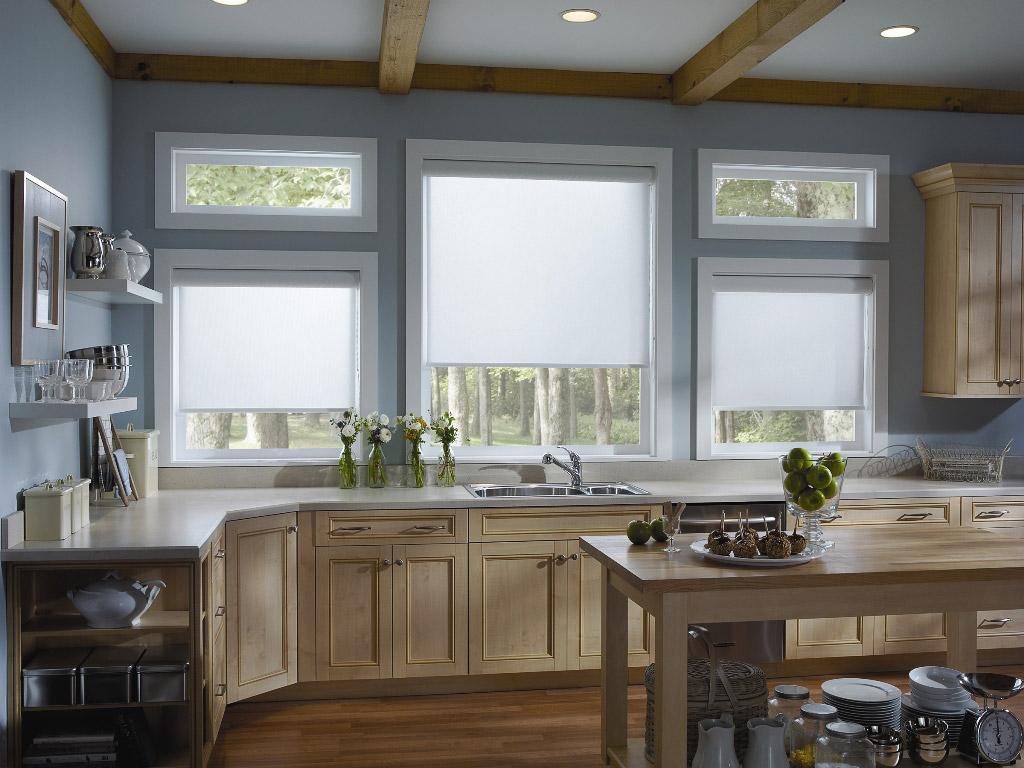 Кассетные шторы на кухне