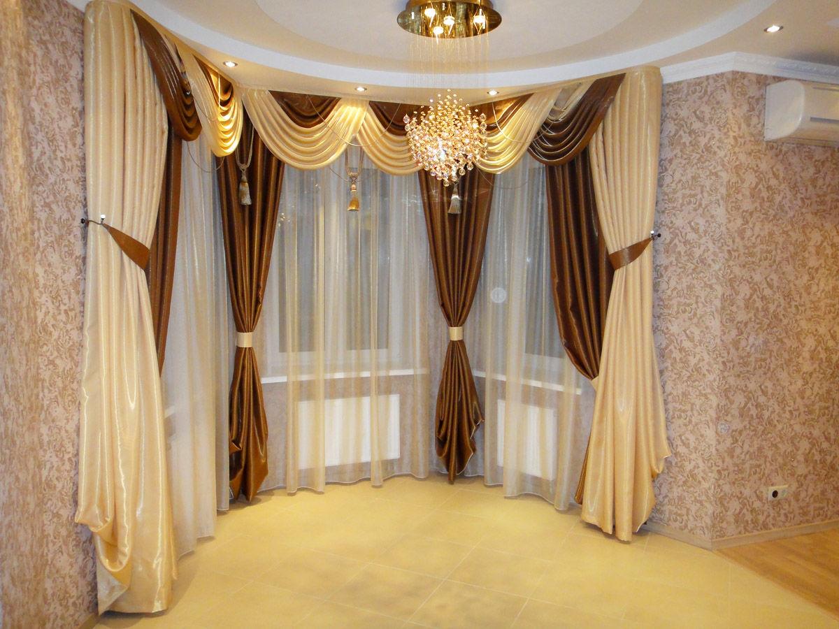 Потолочные шторы с ламбрекеном