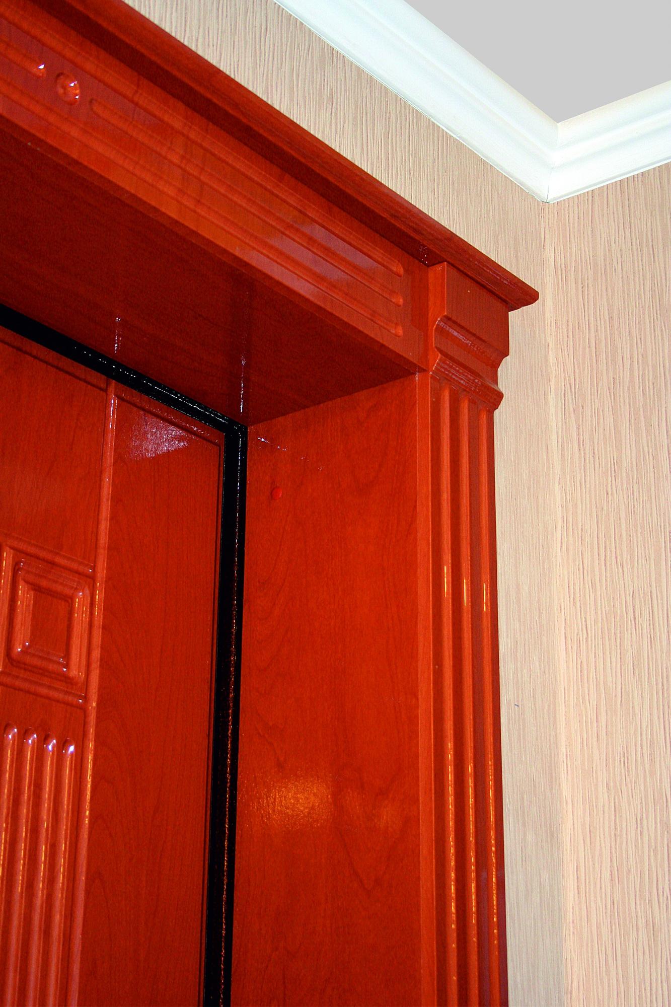 Откосы из ламинированной доски на двери