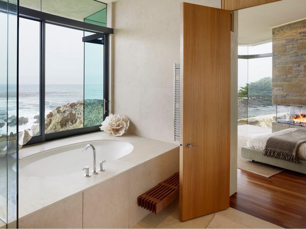 Ламинированная дверь в ванную
