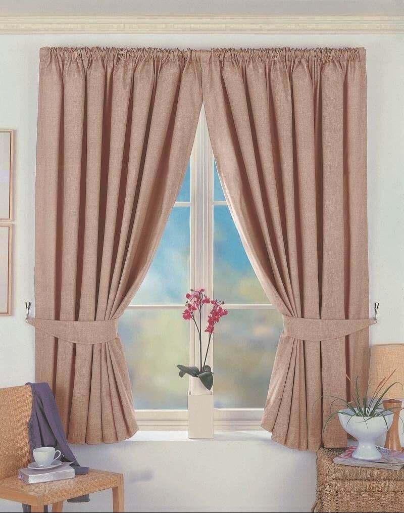 Короткие шторы из льна