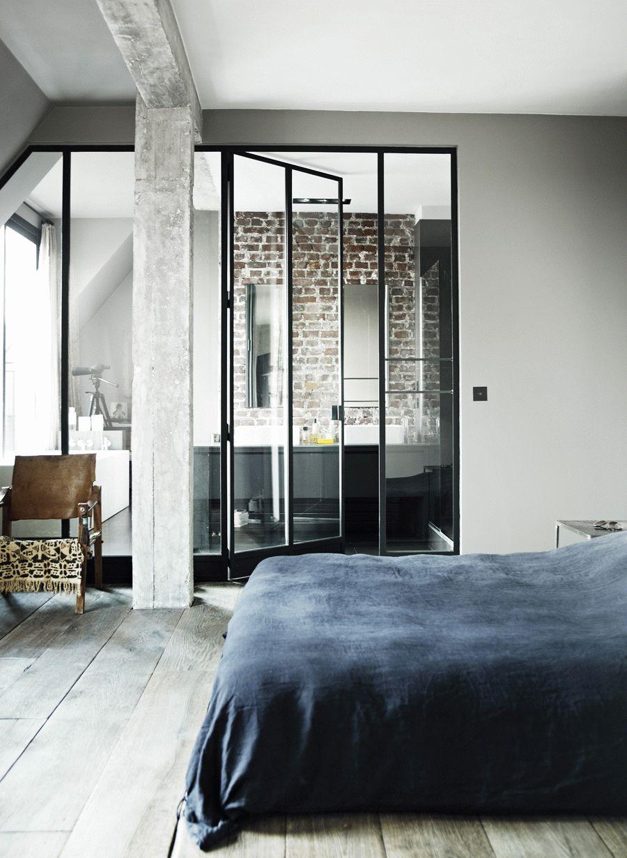 Дверь в ванную в стиле лофт