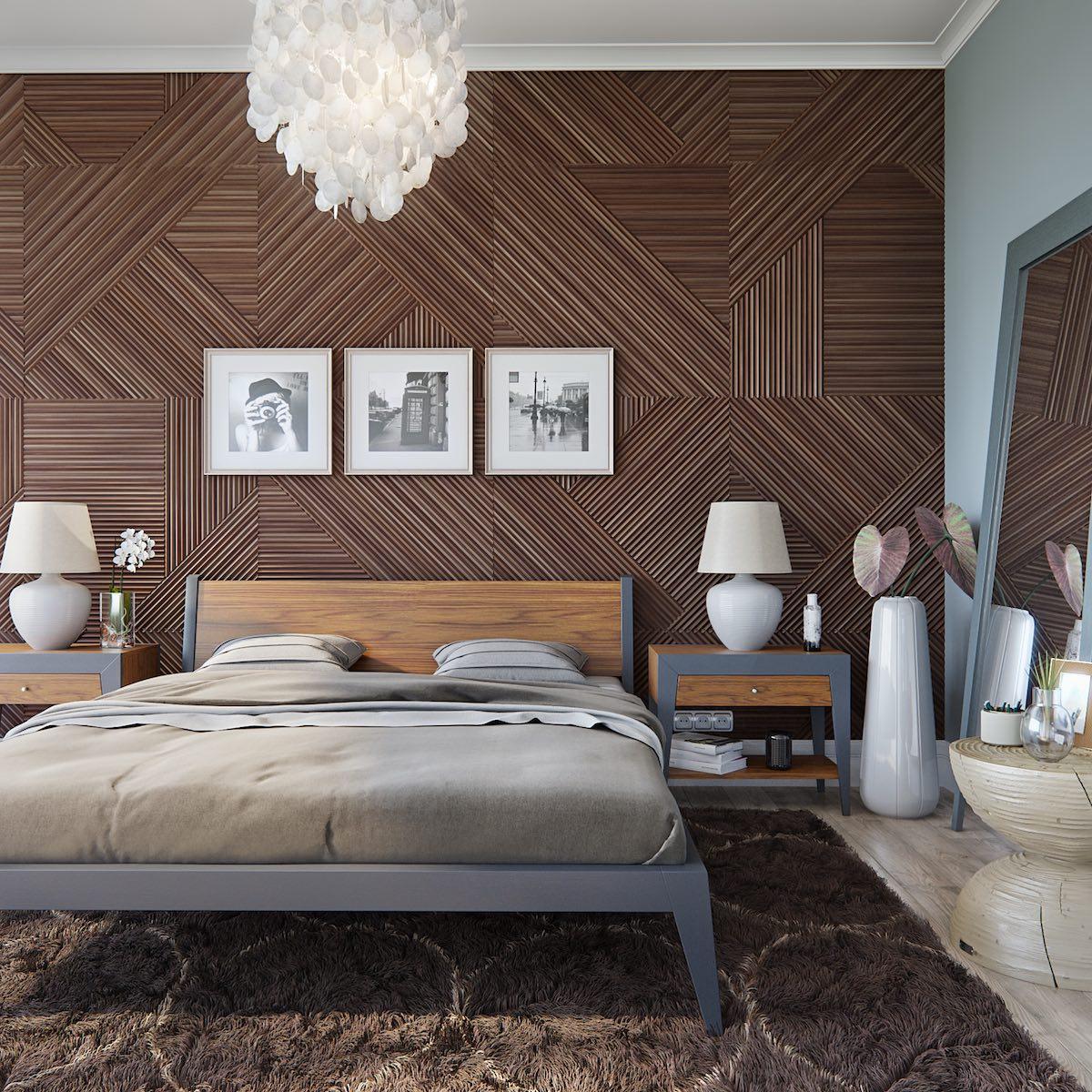 Кровать из массива ореха: привлекательная текстура натуральных пород (27 фото)