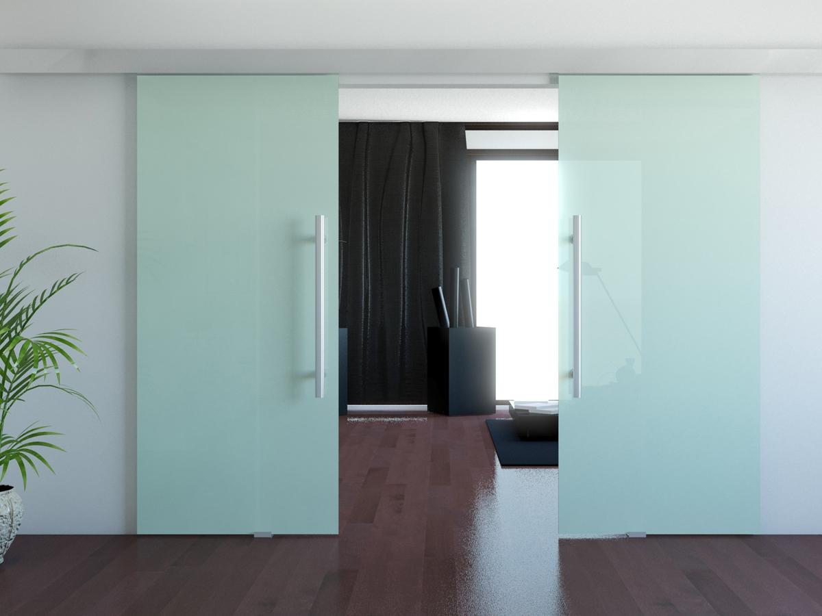 Дверь из матового стекла
